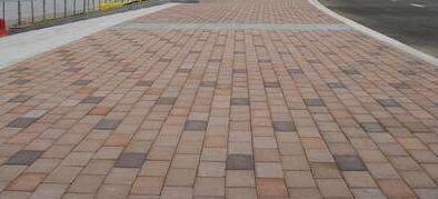 加压振动路面砖成型工艺